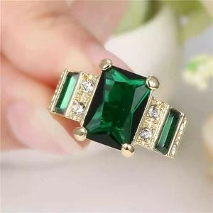 ❤️gorgeous Turkish emerald gold filled ring 6